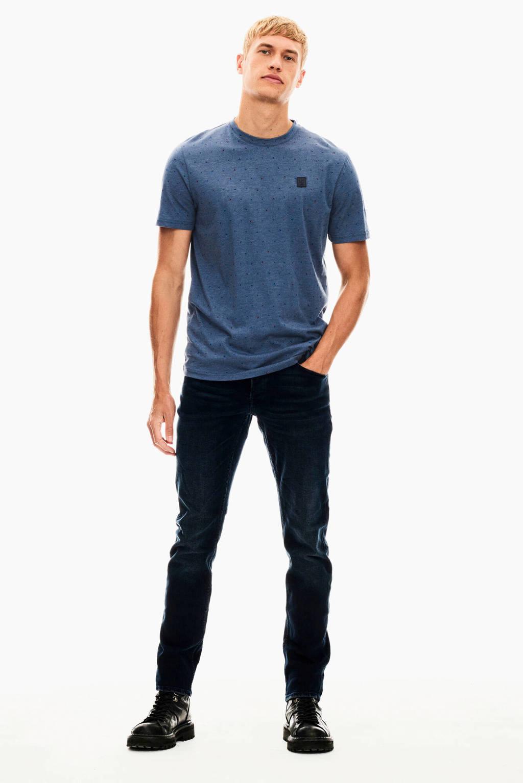Garcia T-shirt met all over print blauw, Blauw