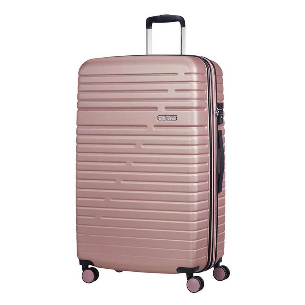 American Tourister  trolley Aero Racer Spinner 79 cm. Expandable roze, Rose