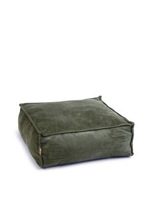 Velveti Ligkussen - Kat - Fluweel - Groen - 50x50x20 cm