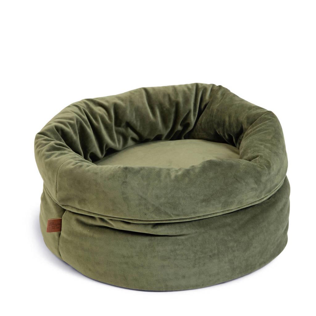 Designed by Lotte Fluco Kattenmand - Fluweel - Groen - 45x45x35 cm