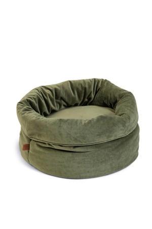 Fluco Kattenmand - Fluweel - Groen - 45x45x35 cm
