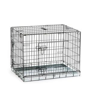 Hondenbench - 2 Deurs - Zwart - 78x55x61 cm