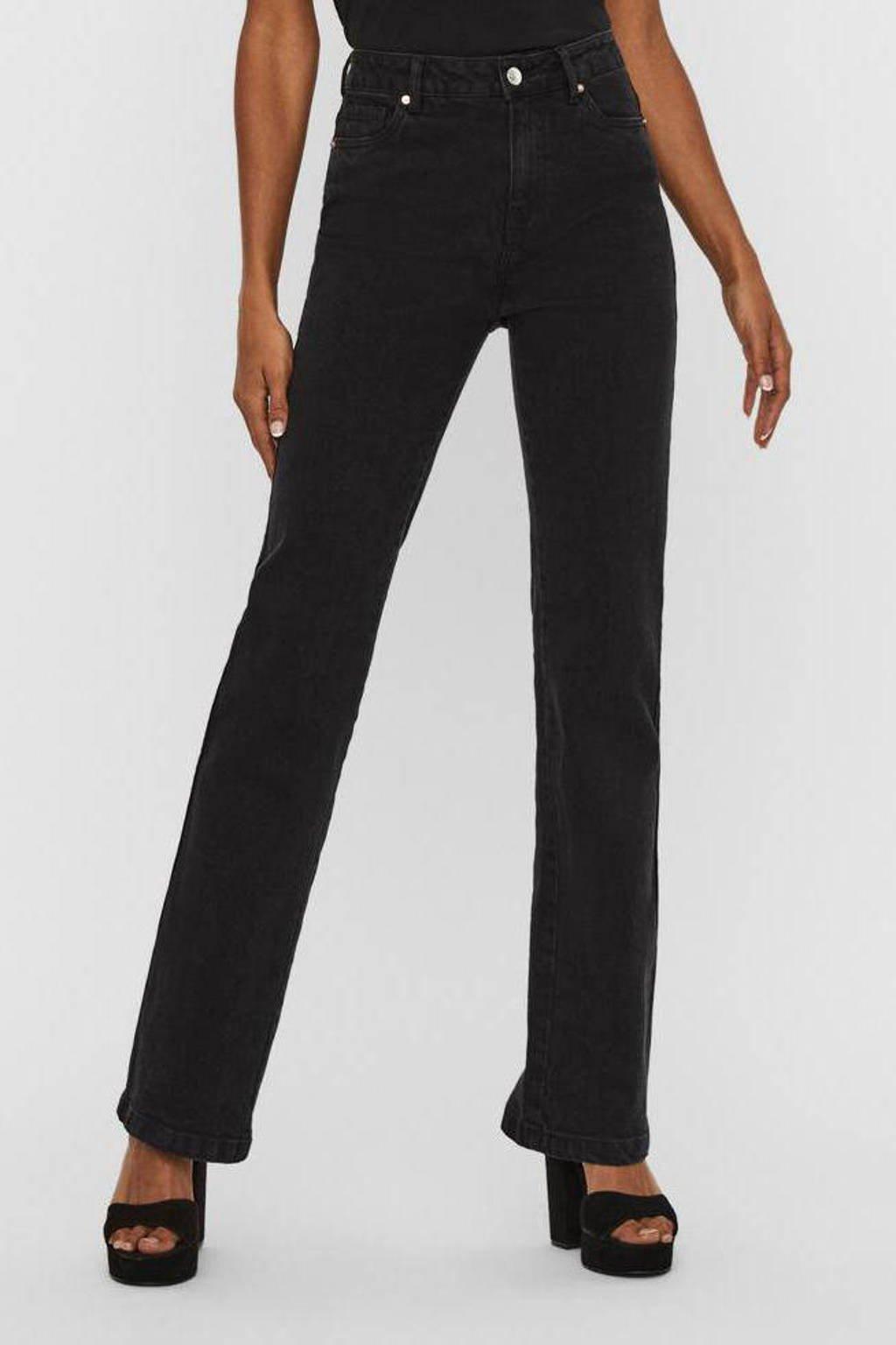 VERO MODA bootcut jeans VMSAGA black, Zwart