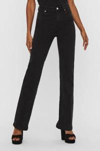 VERO MODA high waist flared jeans VMSAGA met biologisch katoen black, Zwart
