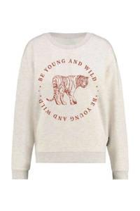 ONLY sweater met printopdruk beige, Beige