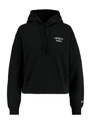 hoodie Stacy met biologisch katoen washed black