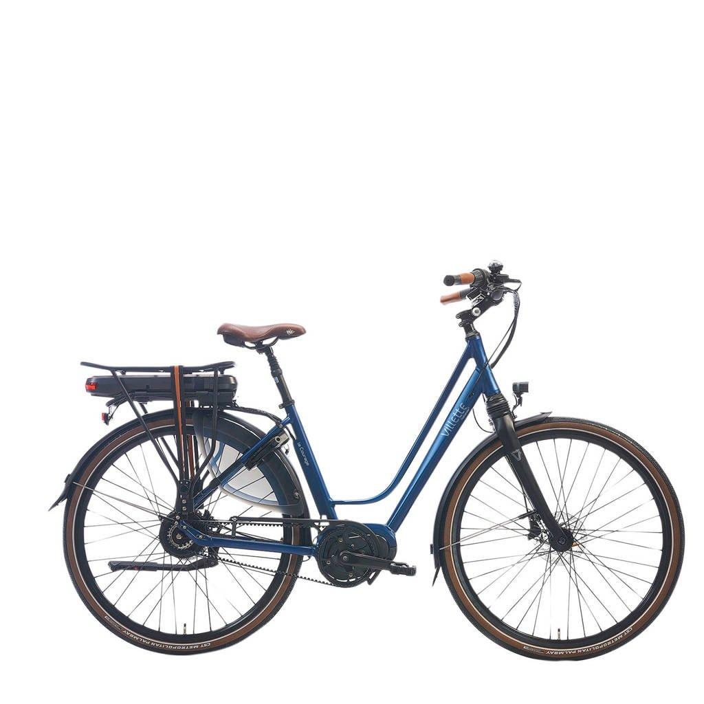 Villette le Courage e-bike midmotor beltdrive traploos, donkerblauw mat, 52