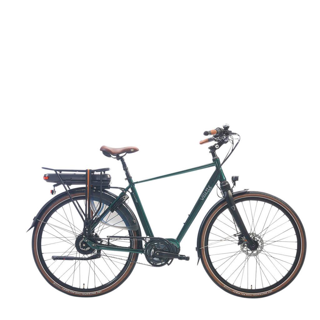 Villette le Courage e-bike midmotor beltdrive traploos, groen metallic, 54