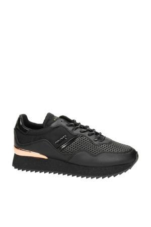 Wave  sneakers zwart/goud