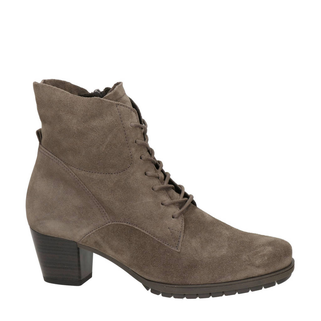 Gabor   suède veterboots taupe, Taupe