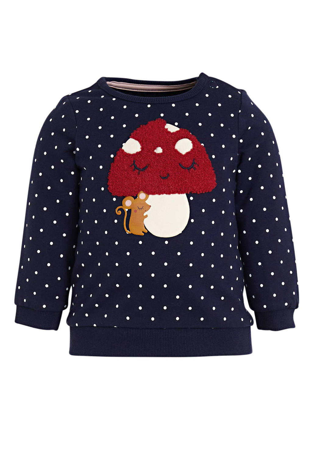 C&A Baby Club baby sweater met stippen donkerblauw, Donkerblauw