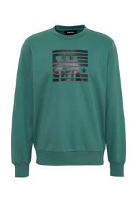 Diesel sweater S-Girk met printopdruk groen, Groen