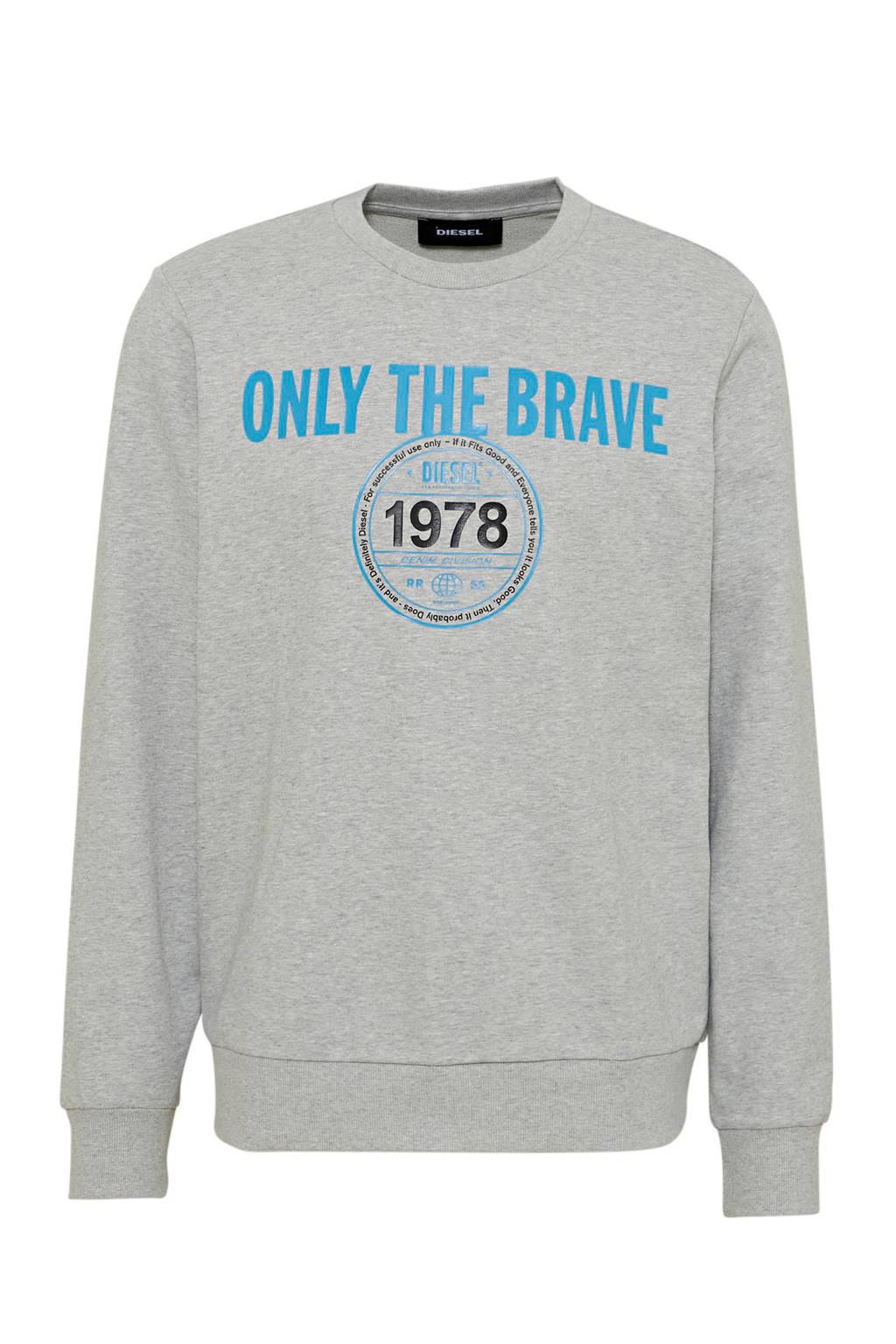 Diesel sweater S-Girk met printopdruk melange, Melange