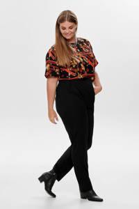 ONLY CARMAKOMA high waist straight fit broek Awesome zwart, Zwart