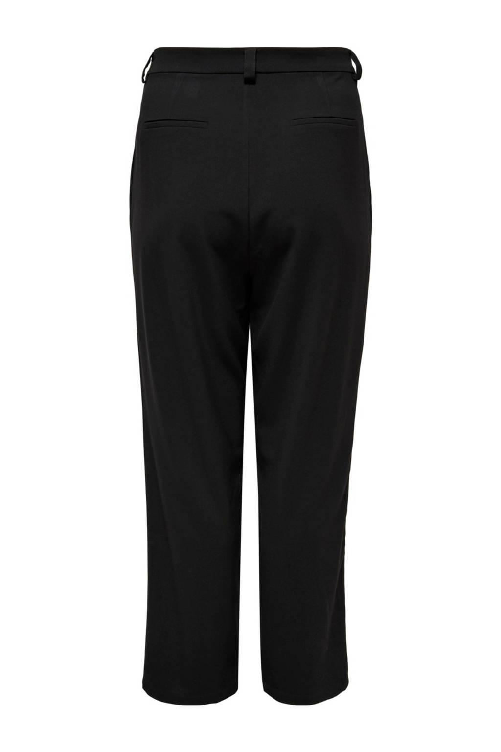 ONLY CARMAKOMA tapered fit broek zwart, Zwart