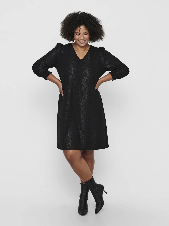 ONLY CARMAKOMA jurk CARAMPOLA zwart, Zwart