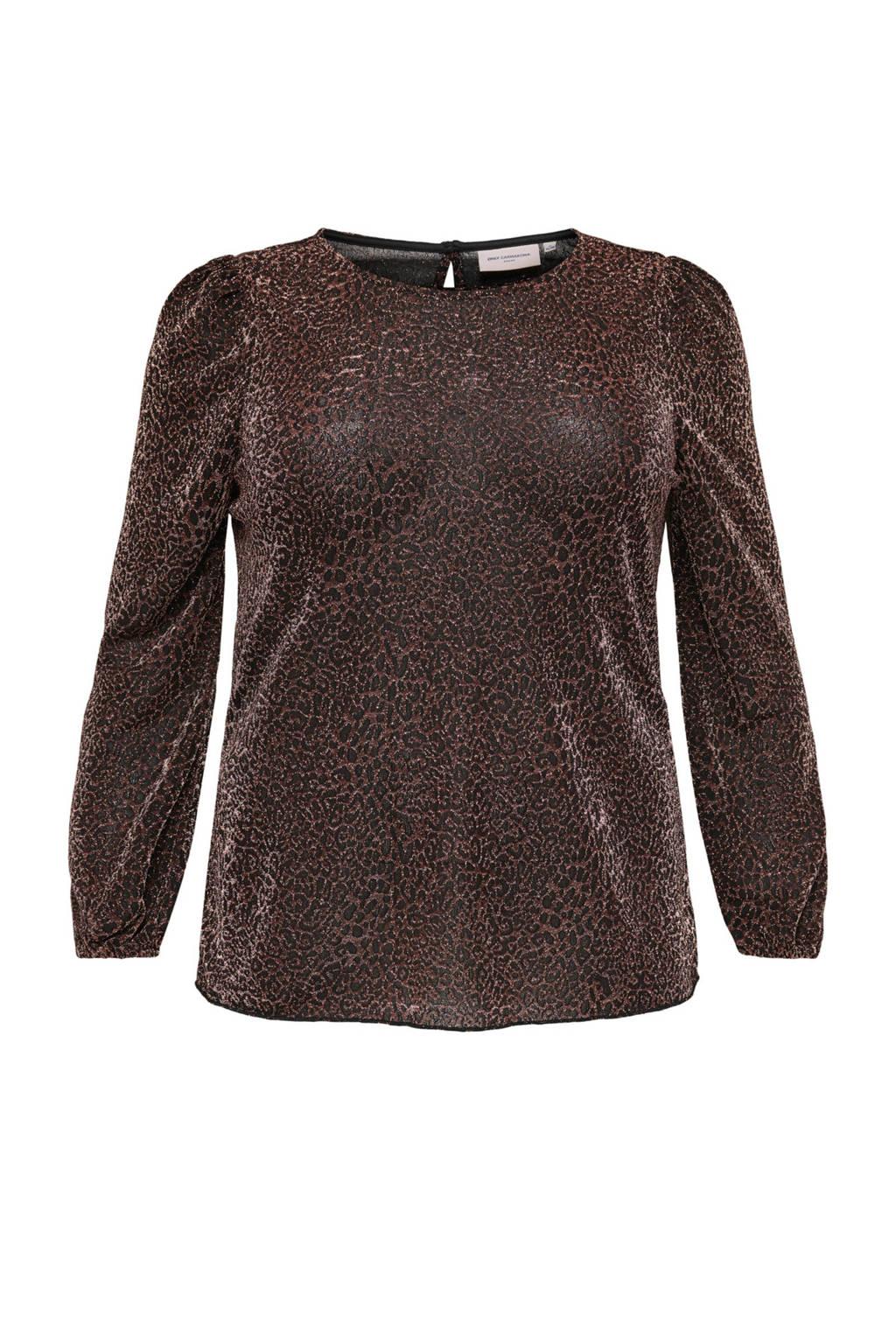 ONLY CARMAKOMA blouse zwart, Zwart