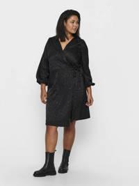 ONLY CARMAKOMA blousejurk met all over print zwart, zwr