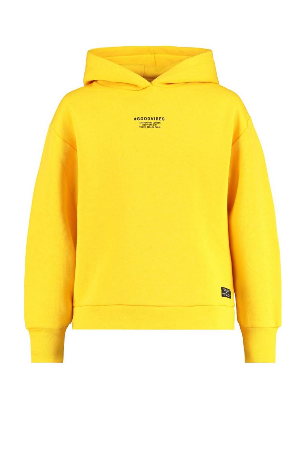 CoolCat Junior hoodie Saron met logo geel, Geel