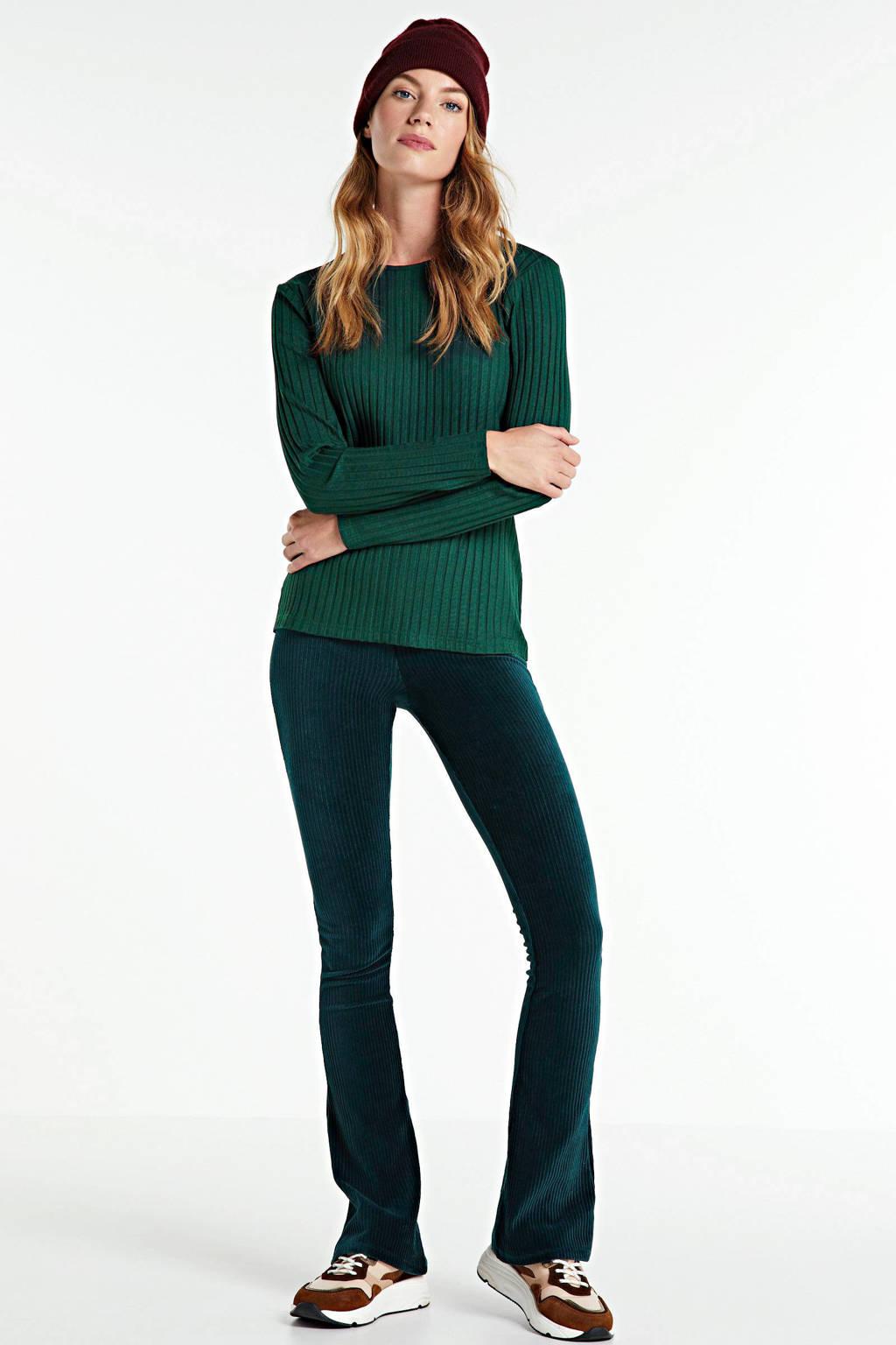 Peppercorn T-shirt met krijtstreep groen, Groen