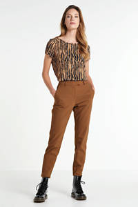 Peppercorn slim fit pantalon bruin, Bruin