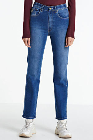high waist straight fit jeans River stone