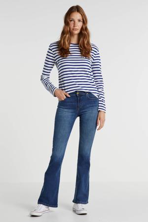 high waist flared jeans Raval-16 dark stone