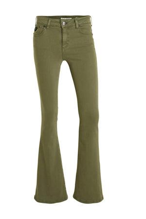 flared broek Raval-16 fir green
