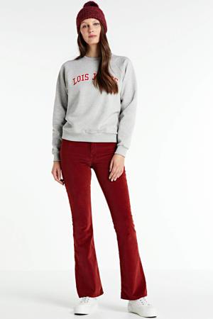 sweater Iris met tekst grey melange
