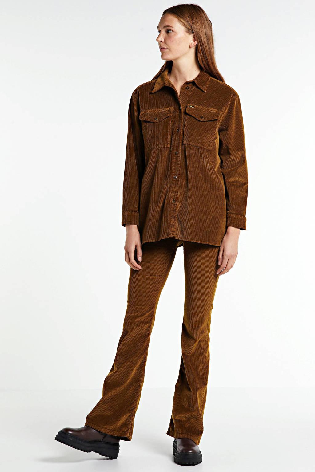 Lois corduroy blouse Carol brandy