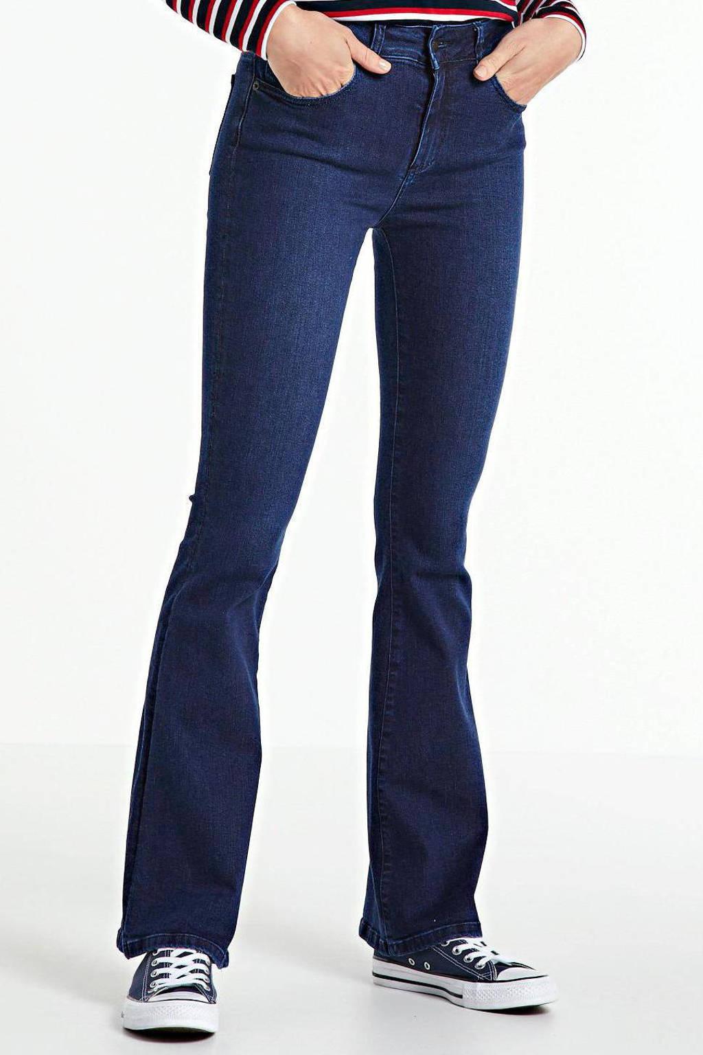 Lois high waist flared jeans Raval-16 navy blue, Navy Blue