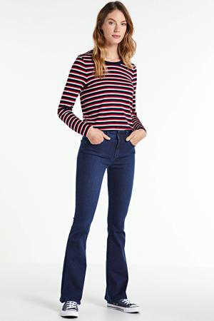 high waist flared jeans Raval-16 navy blue