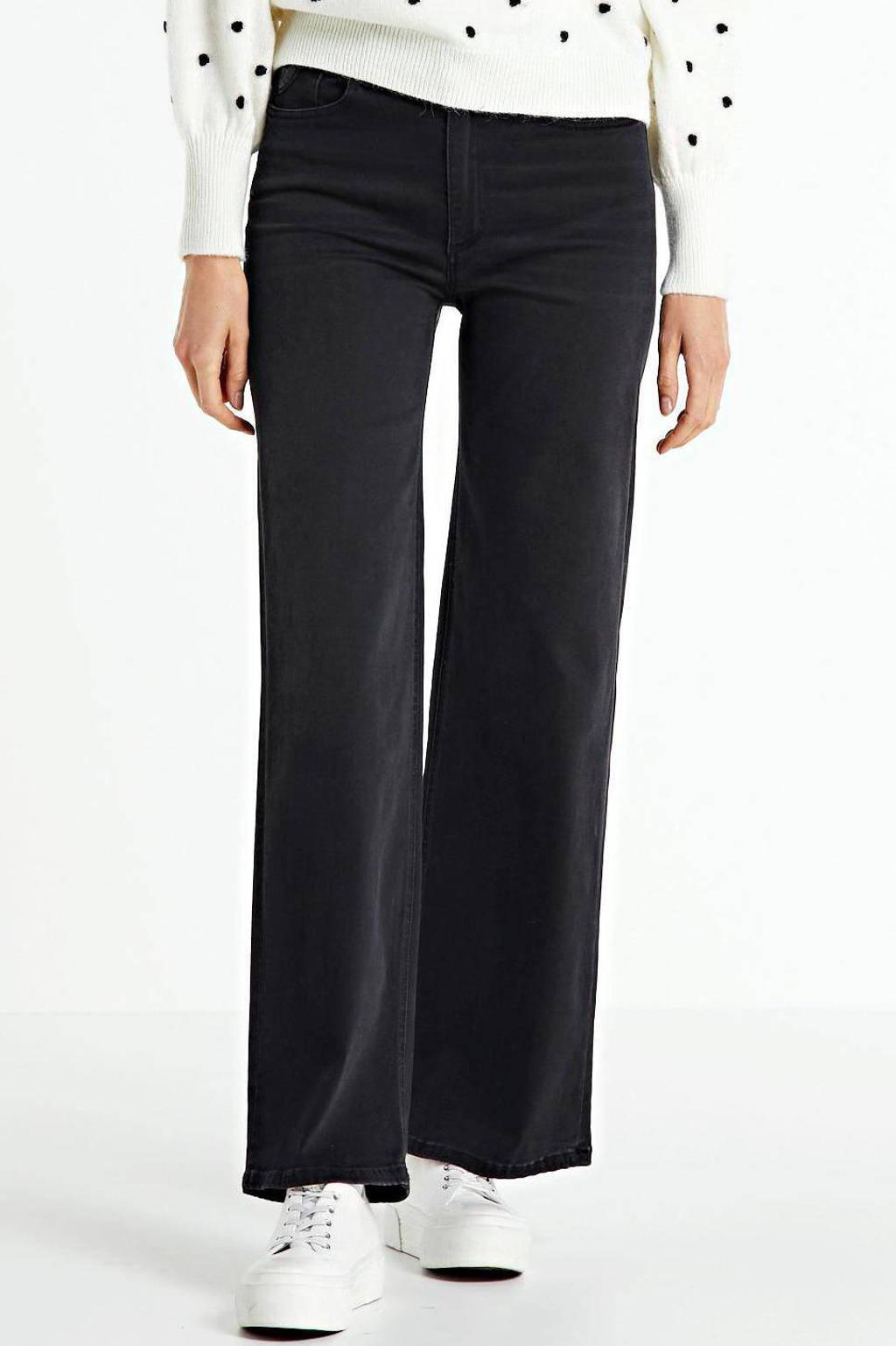 Lois high waist loose fit jeans Jossie black stone, Black Stone