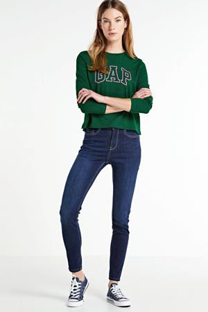 longsleeve GAP EASY LS TEE met logo pine green
