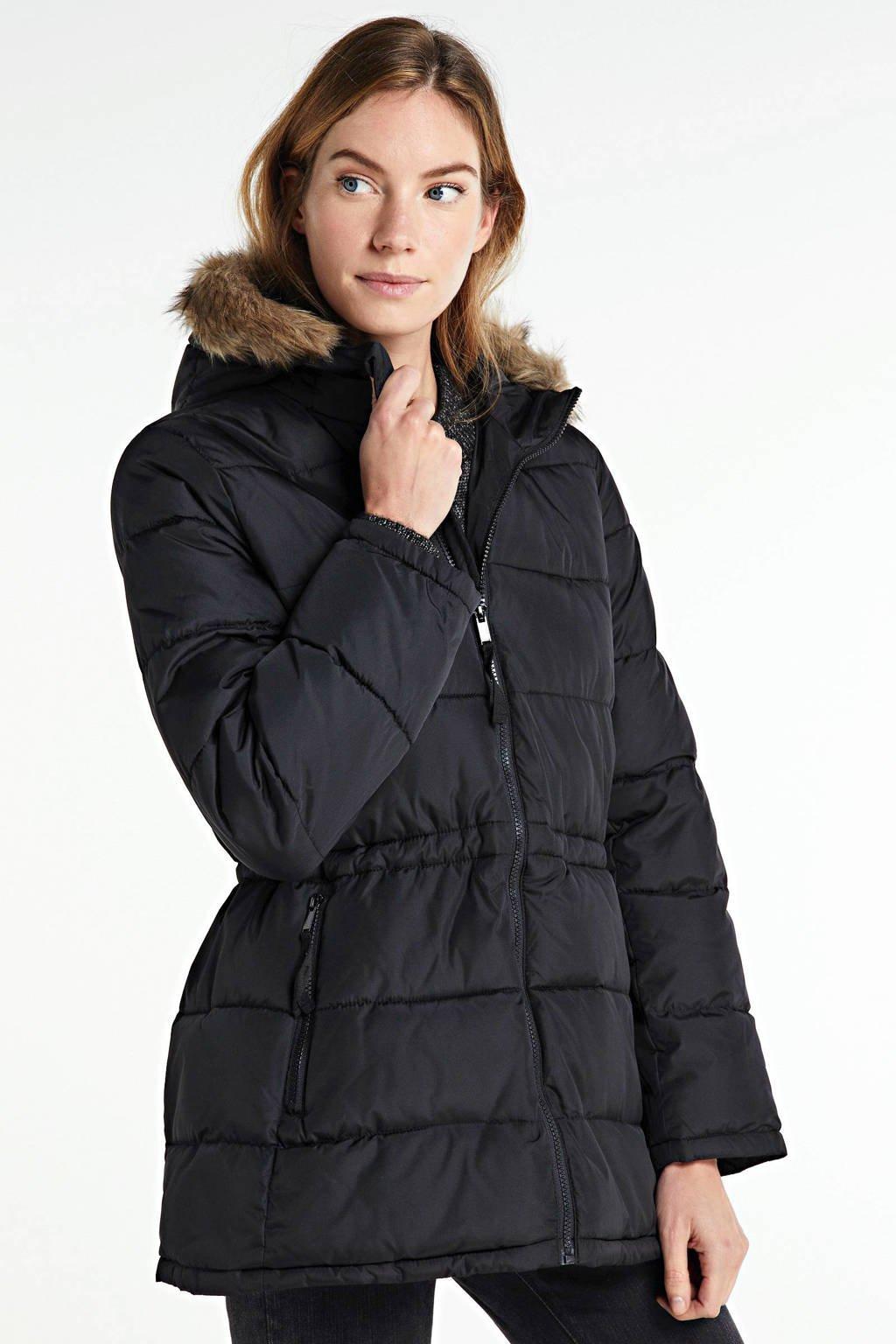GAP gewatteerde jas true black, True black