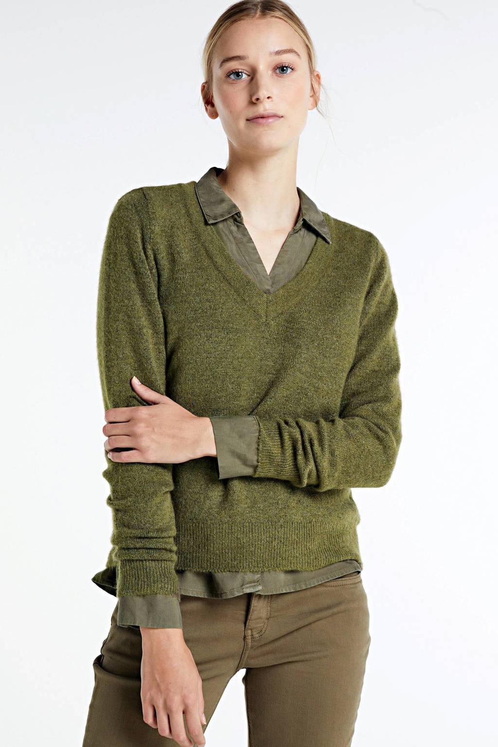 ONLY gebreide trui Corinne groen, Groen