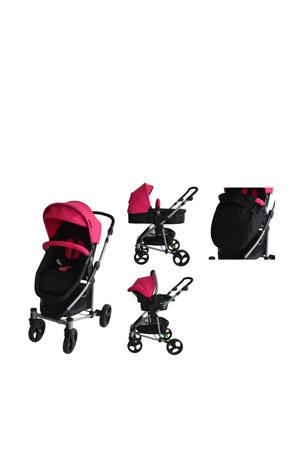 inspire 3-in-1 combi kinderwagen - roze