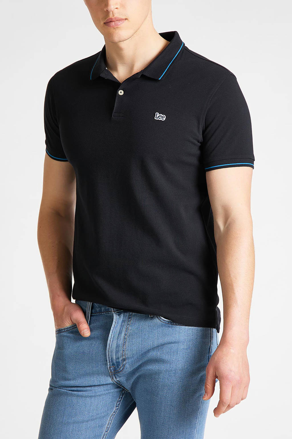 Lee regular fit polo donkerblauw, Donkerblauw