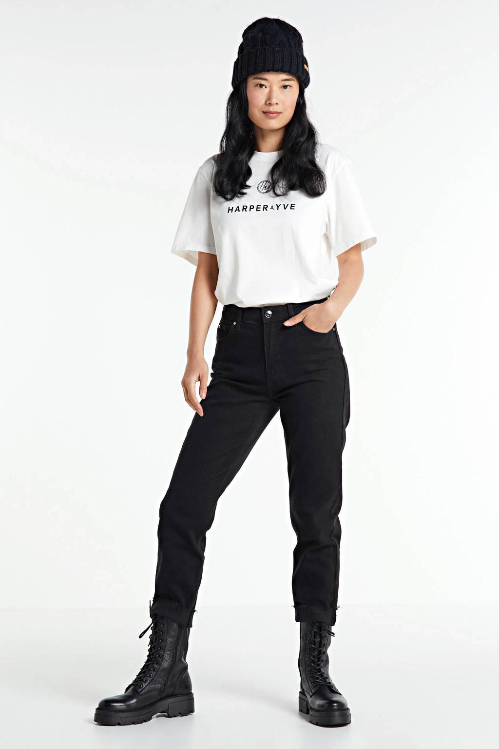 HARPER & YVE T-shirt met printopdruk wit, Wit