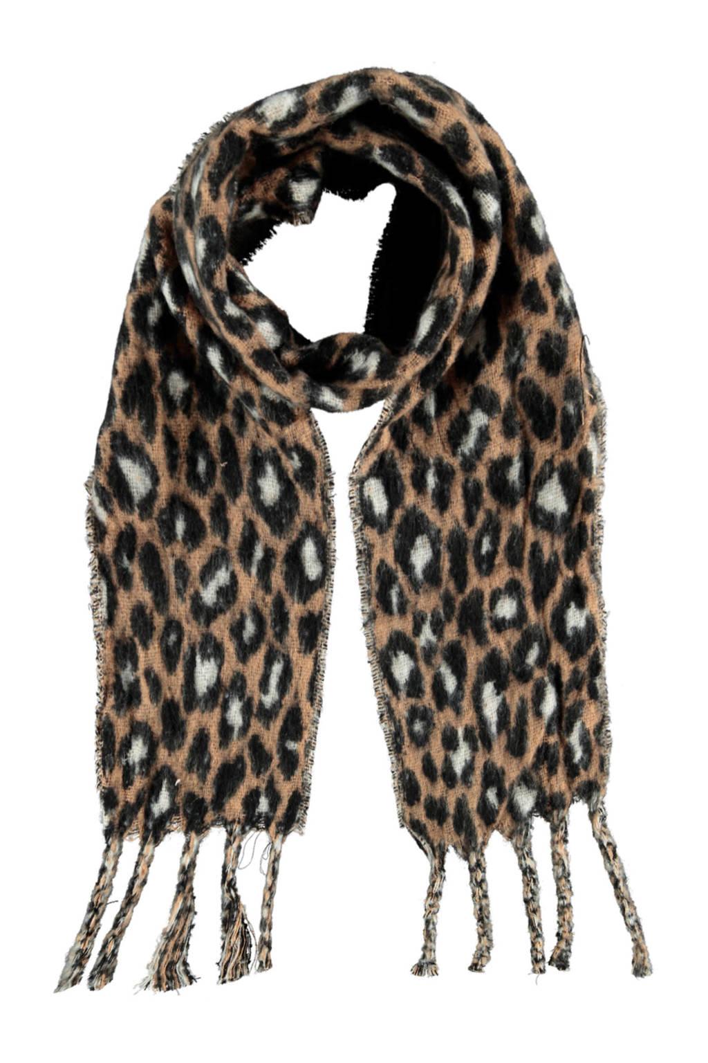 Sarlini tijgerprint sjaal camel, Camel
