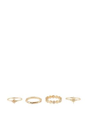 ringen PCCILLA goud (set van 4)