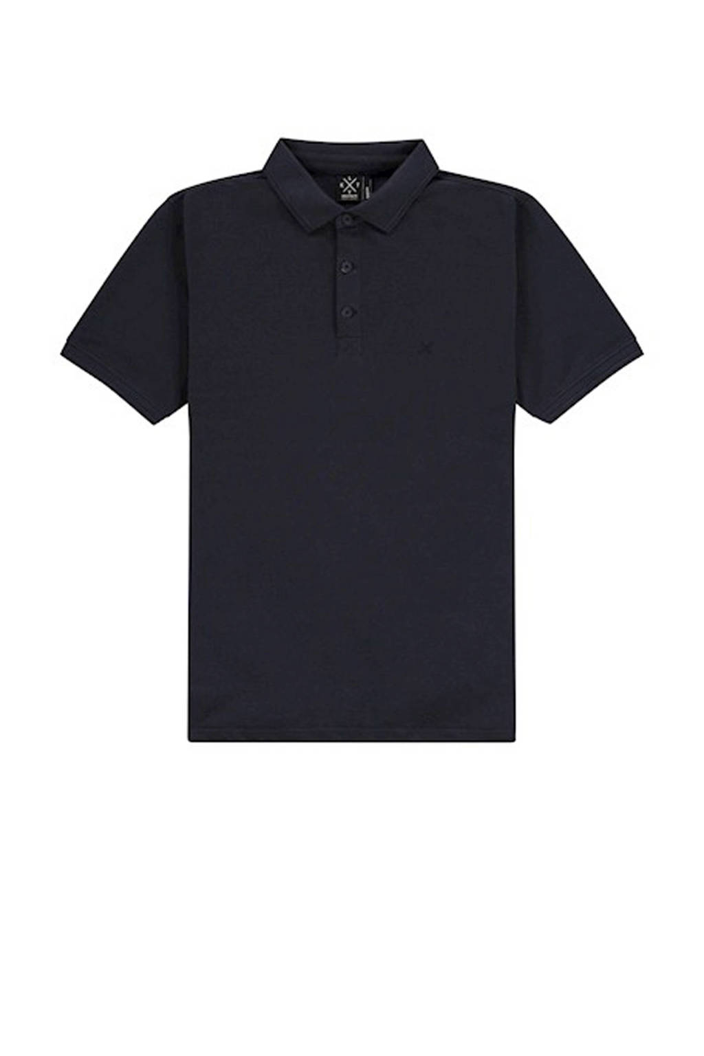 Kultivate regular fit polo donkerblauw, Donkerblauw