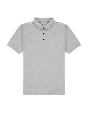 regular fit polo lichtgrijs