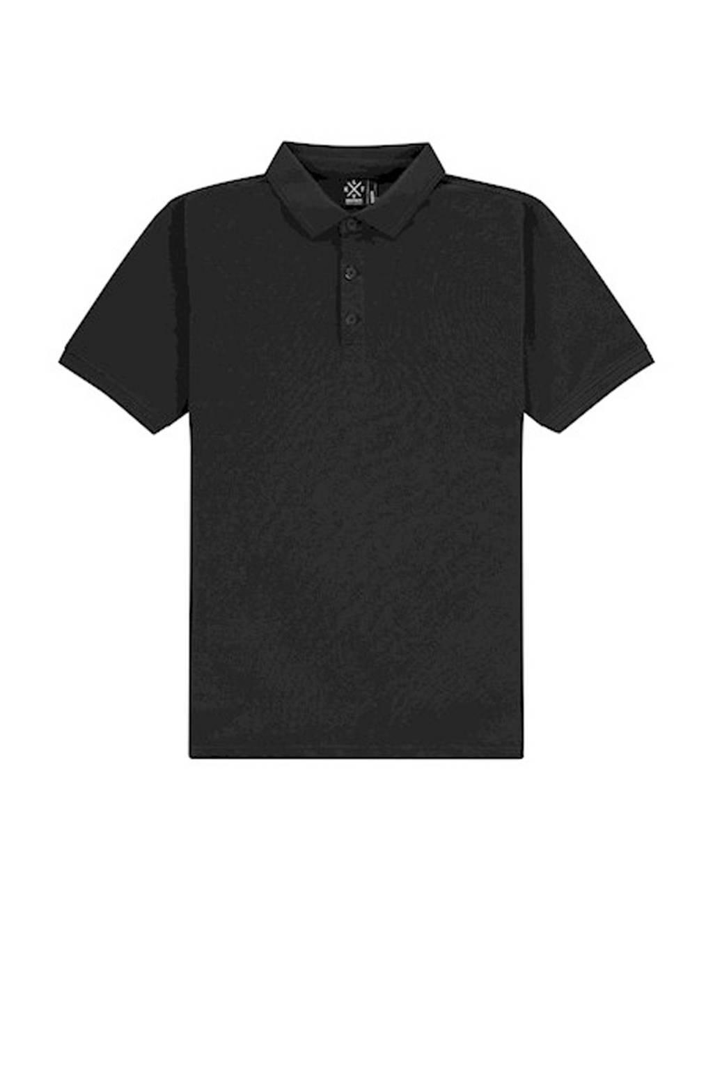 Kultivate regular fit polo zwart, Zwart