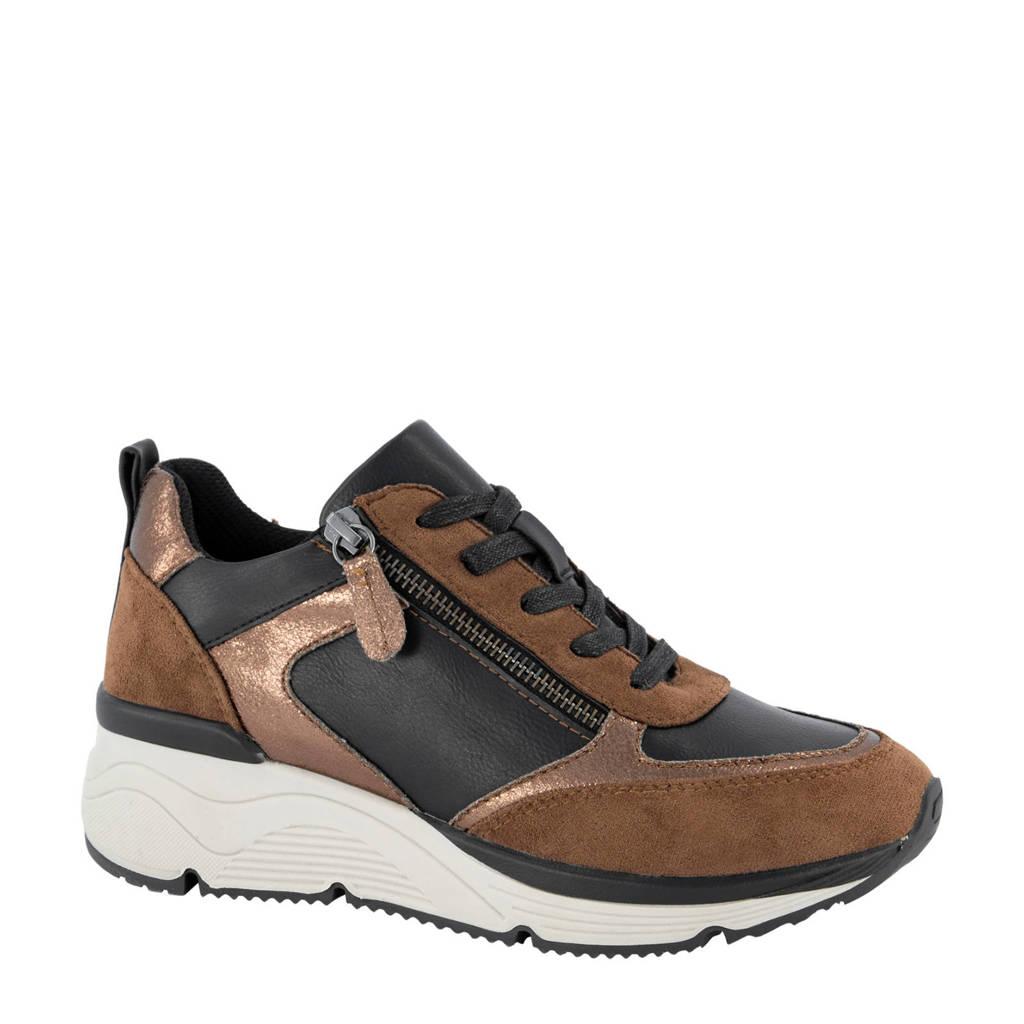 Graceland   sneakers bruin, Bruin/Metallic