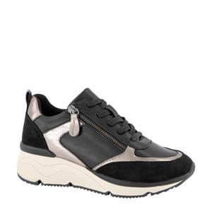 sneakers zwart/zilver
