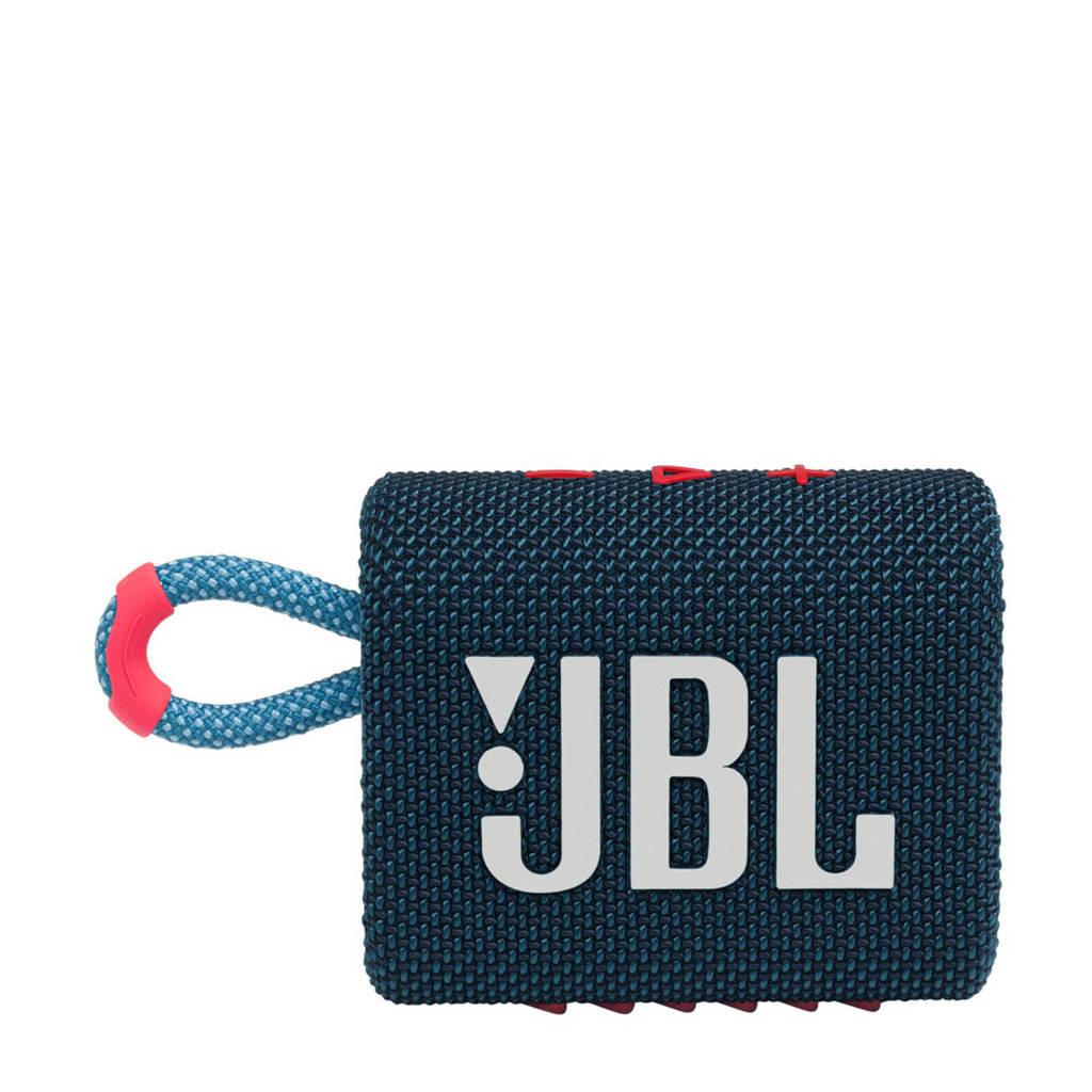 JBL Go 3  Bluetooth speaker (donkerblauw), Blauw