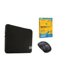 """BCC  Accessoirebundel voor de laptop 15.6"""", Zwart"""