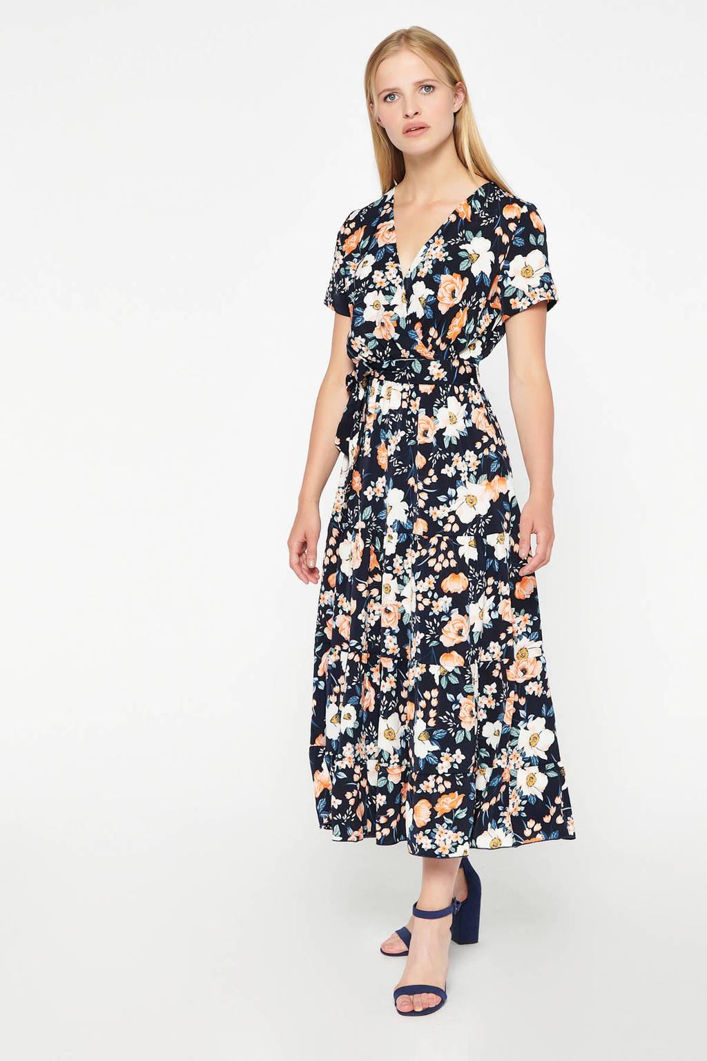 LOLALIZA gebloemde maxi jurk marine/multi, Marine/multi