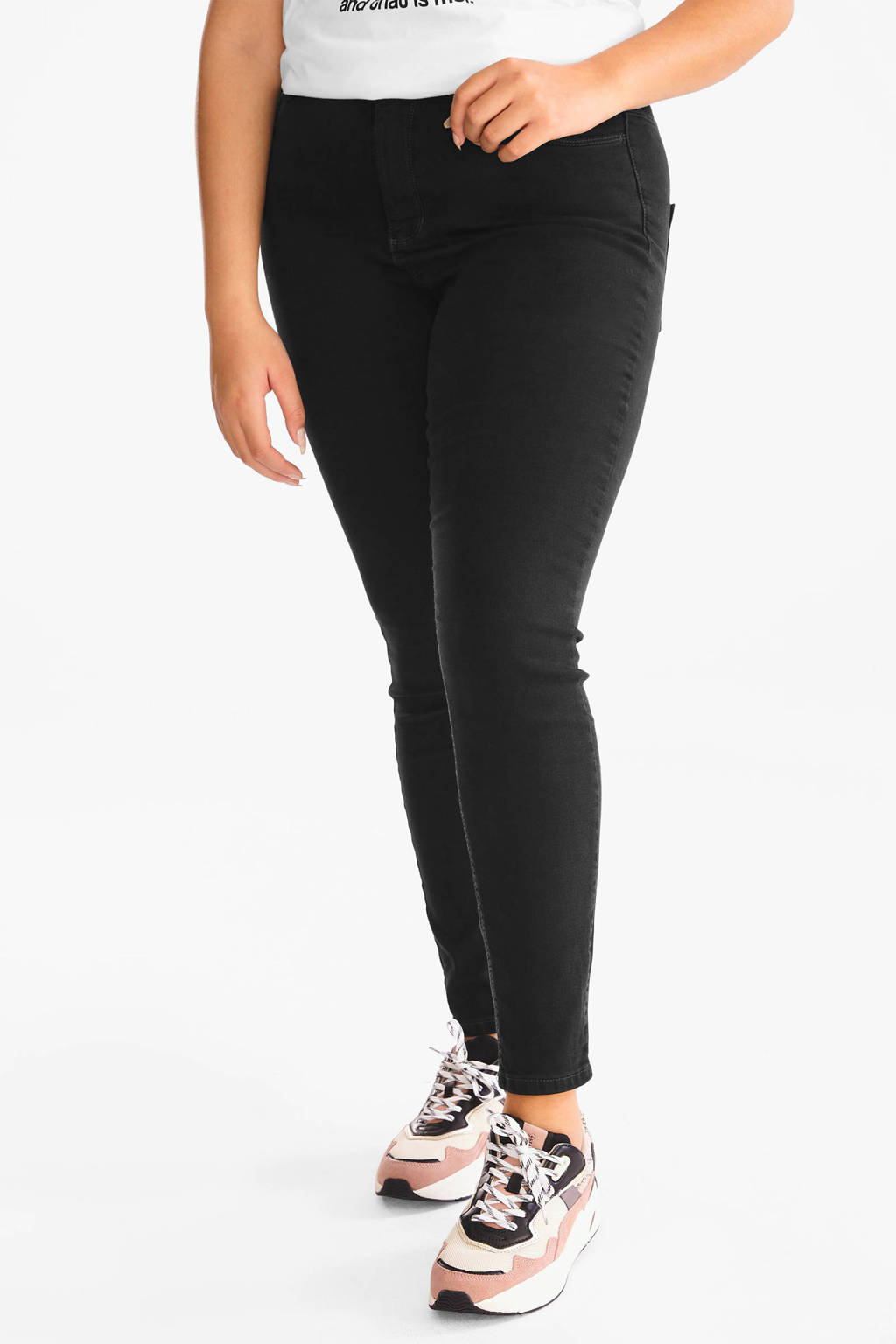 C&A XL Clockhouse cropped super skinny jeans zwart, Zwart